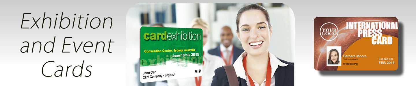 Exhibition and event card printers for visitors and exhibitors.