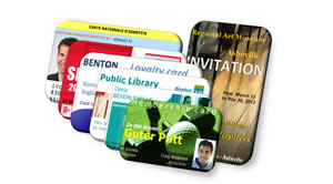Card design software for ID cards.