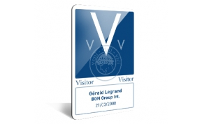 Visitor access card.