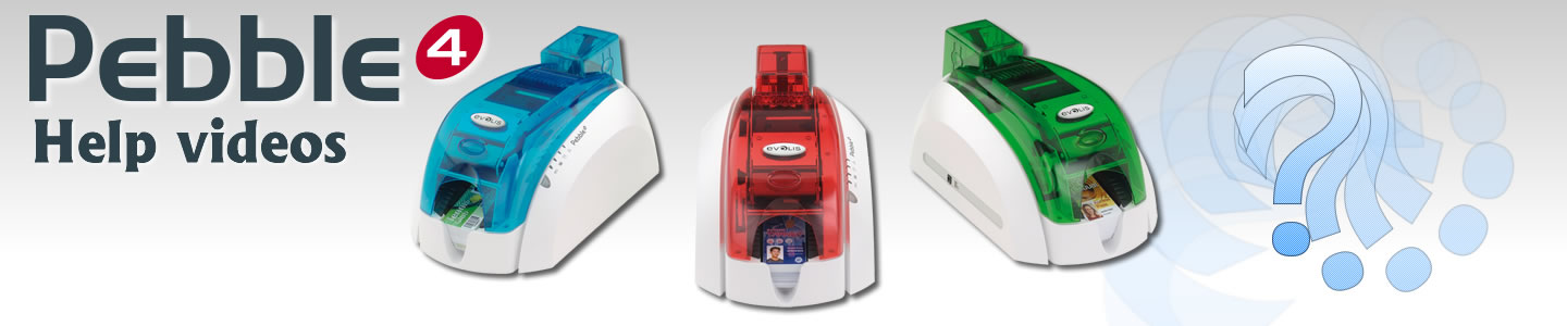 Evolis Pebble Card printer help videos.