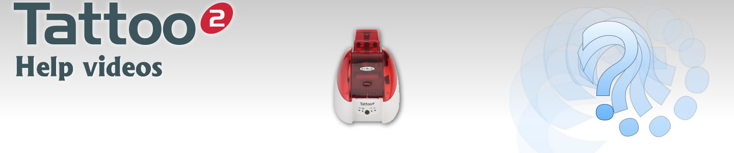 Evolis Tattoo ID Card Printer user guide videos.