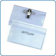 Name tag plastic card holder.