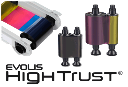 Evolis High Trust Ribbons and Cartridges.