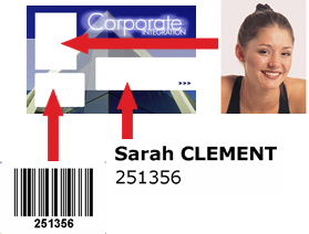 personalise pre-printed card with half panel ribbon.