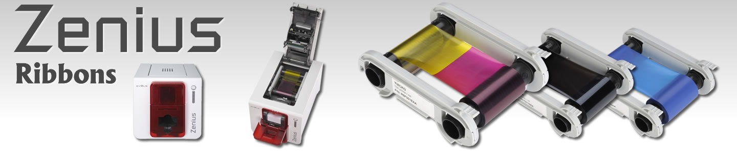 Ribbons cartridge for Evolis Zenius membership card printer.
