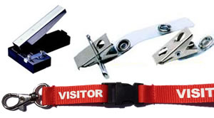 ID card accessories, lanyards, clips and pins Brisbane Australia.