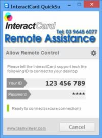 InteractCard remote support service for Windows.