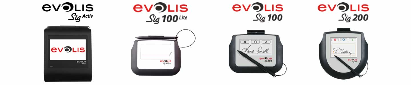 Evolis Sig100 & Sig200 USB Signature capture pads.