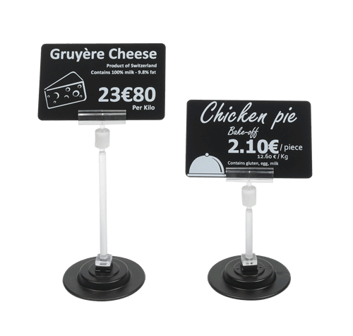 Food contact compliant price tag printers.