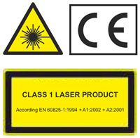 Core 8 is a Class 1 laser product
