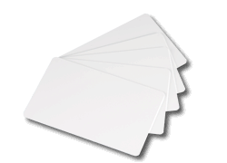 Re-writable plastic cards